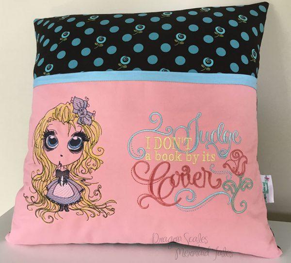 Alice in Wonderland Reading Pocket Cushion