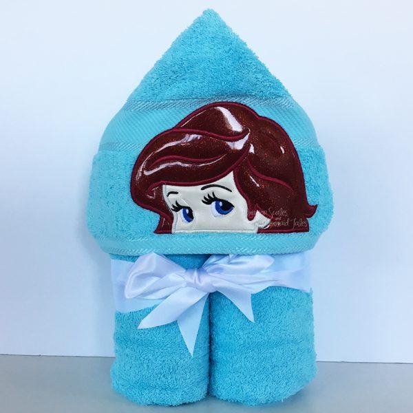 Ariel Little Mermaid Hooded Towel