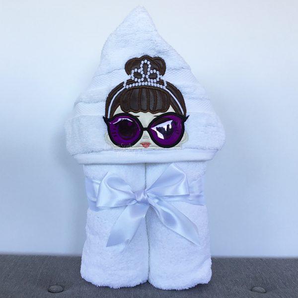 Audrey Hepburn Classy Lady Hooded Towel