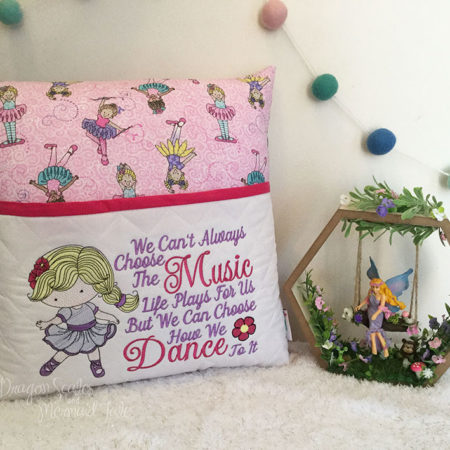 Ballerina Dancing Dance Girl Reading Cushion