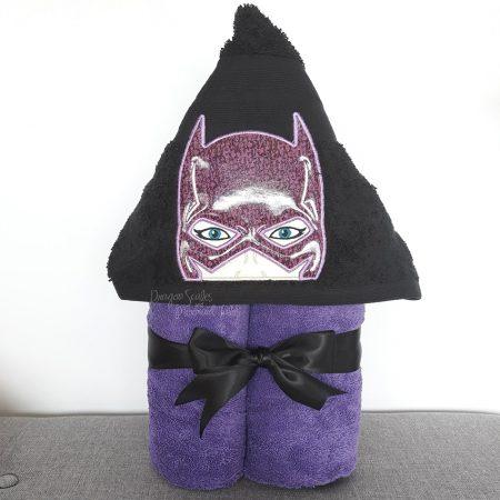 Batgirl bat girl Superhero Hooded Towel