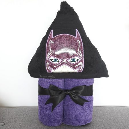 Batgirl bat girl Superhero Hooded Towel