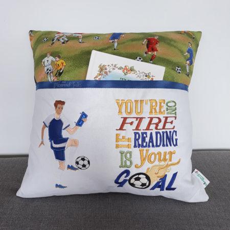 Soccer Football Goal Reading Cushion