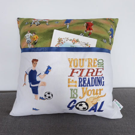 Soccer Football Goal Reading Cushion