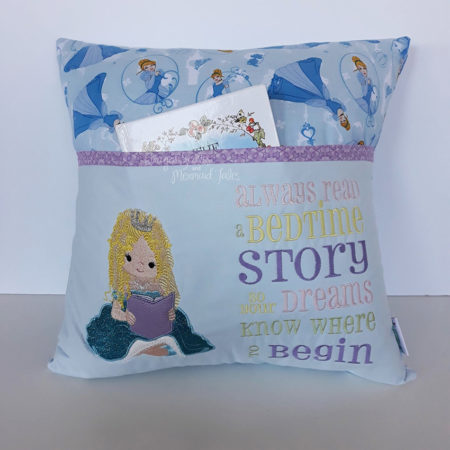 Cinderella Princess Blue Reading Cushion