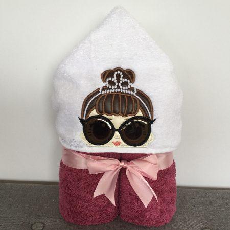 Audrey Hepburn Classy Lady Girl Hooded Towel