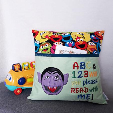Count Sesame Street Toddler Reading Cushion
