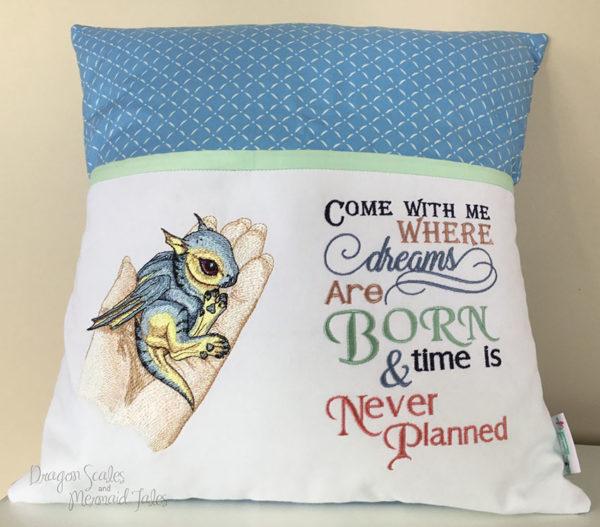 Baby Dragon Dream Reading Cushion