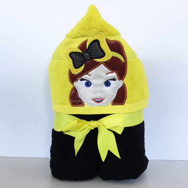 Emma Wiggle Bow hooded towel