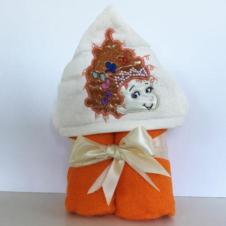 Fancy nancy Girl hooded towel