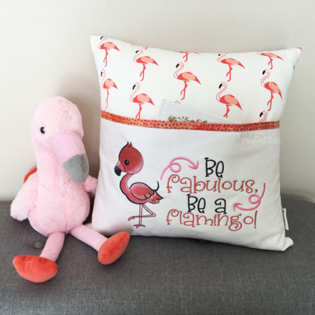 Flamingo Reading Cushion