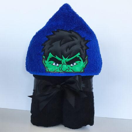 the hulk angry green man avengers hooded towel