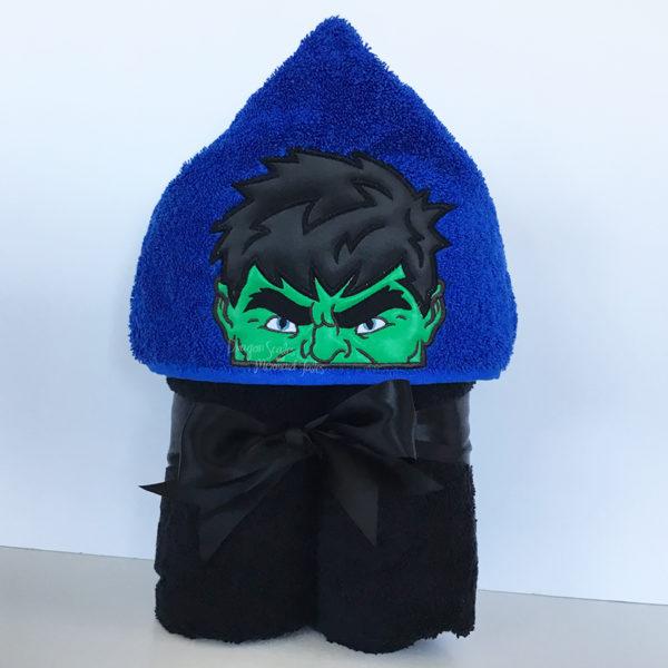 hulk avengers hooded towel