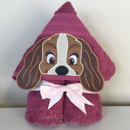 Lady and the tramp hooded towel