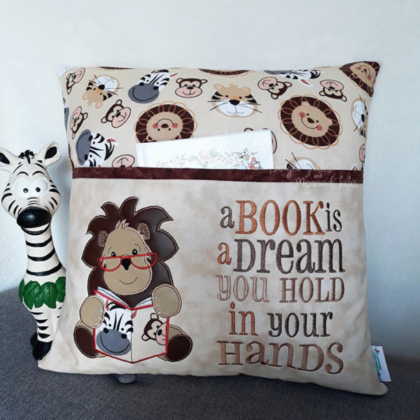 Lion Reading Cushion