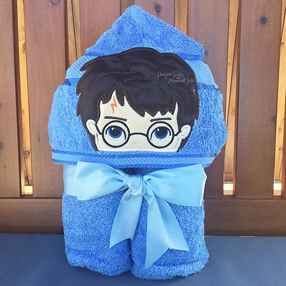 harry potter wizard boy girl hooded towel