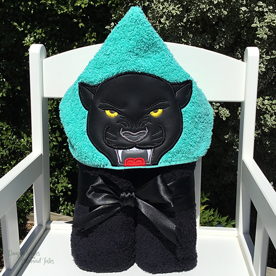 panther hooded towel