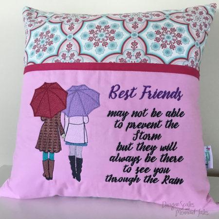 Best Friends reading cushion