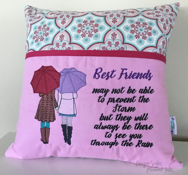 Best Friends reading cushion