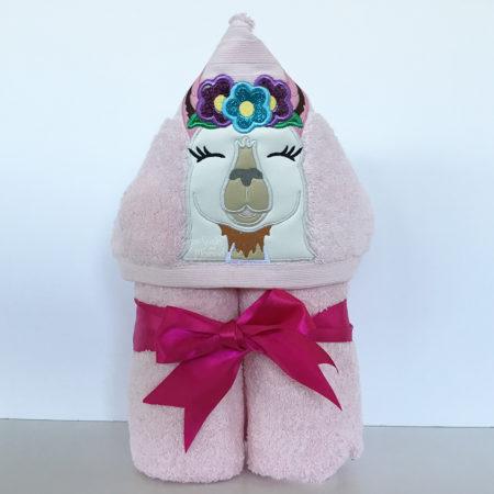 Llama hooded towel