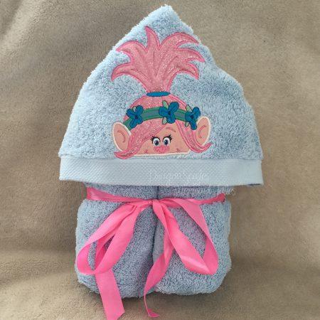 Princess Poppy Troll Hooded Towel