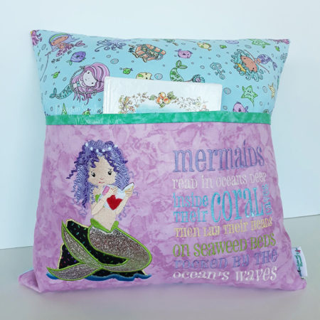 mermaid reading cushion