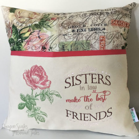 Sister in law reading cushion