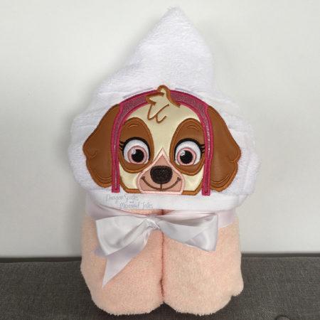 paw patrol skye hooded towel