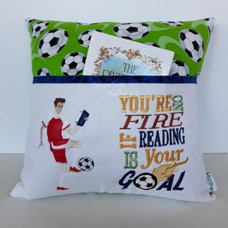 Soccer reading cushion