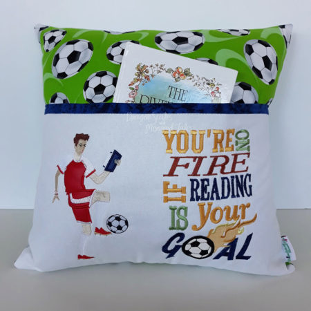 Soccer reading cushion