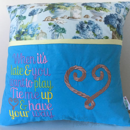 tie me up naughty reading cushion