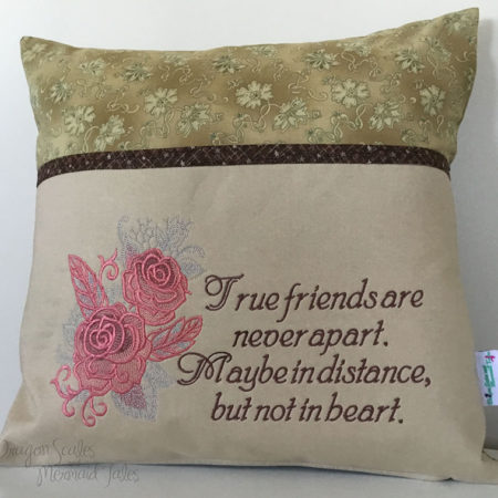 True Friends reading cushion
