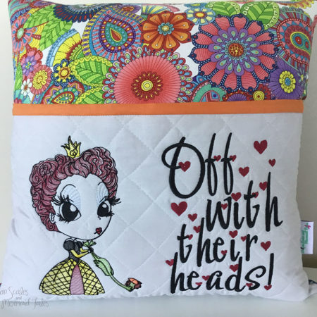 Queen of hearts reading cushion