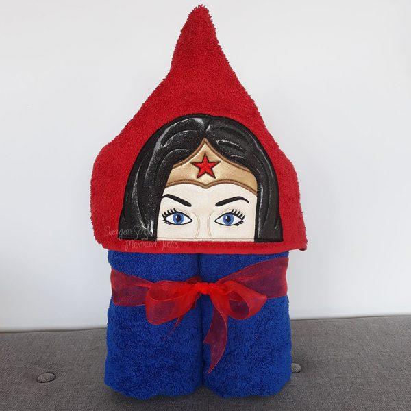 Wonder Woman Superhero Hooded Towel