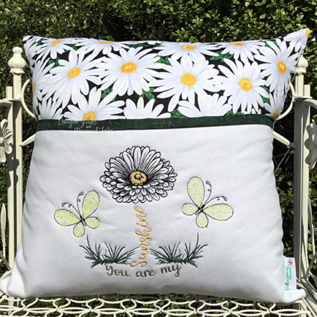 You are my sunshine reading cushion