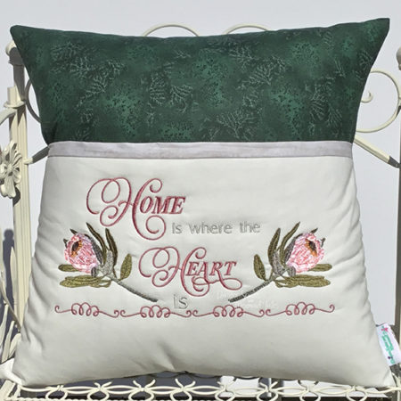 Home is where the heart is reading cushion