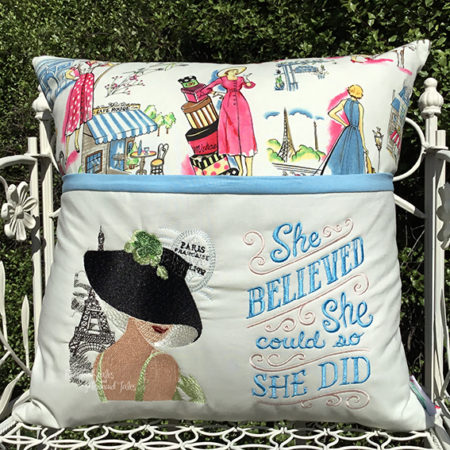 She Believed She could so she did reading cushion