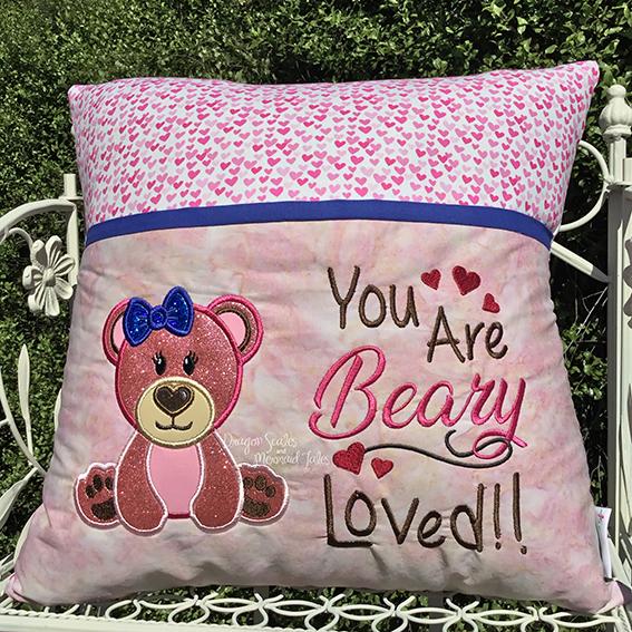 Beary loved reading cushion