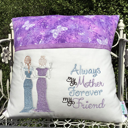 Mother is forever my friend reading cushion