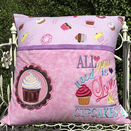 Love and Cupcakes Reading cushion