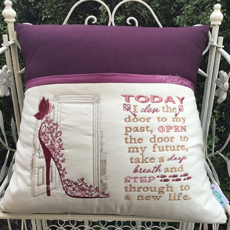 High Heel mother woman new beginnings one door closes another one opens reading cushion