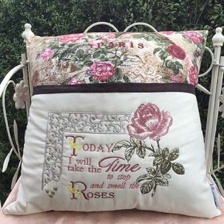 smell the roses reading cushion