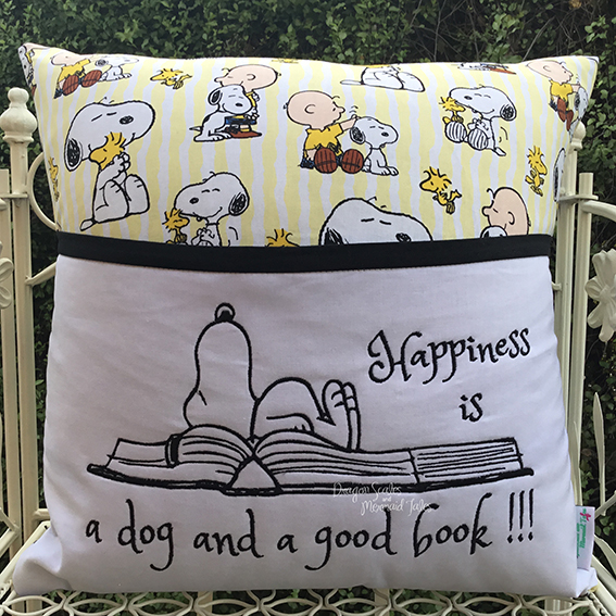 snoopy happiness reading cushion