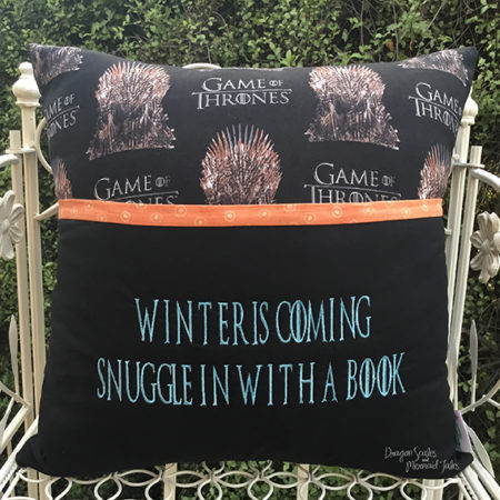 game of thrones winter is coming reading cushion