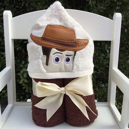 Woody toy story cowboy hooded towel