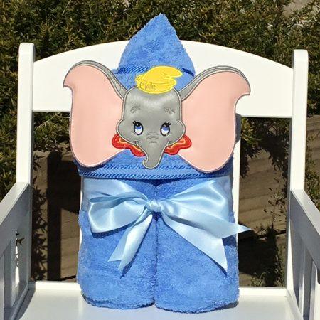 Dumbo flying elephant hooded towel