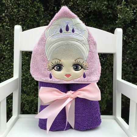 classy queen dignified princess lol doll hooded towel