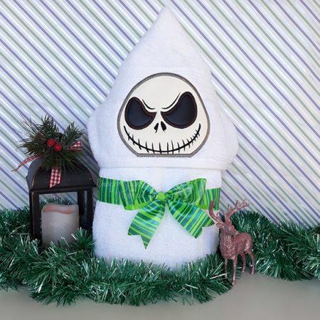 jack skellington nightmare before christmas halloween hooded towel