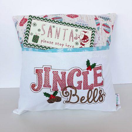 jingle bells christmas reading cushion