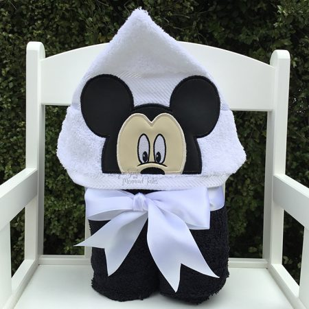 mickey mouse boy hooded towel